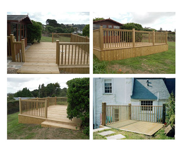 Cornwall wood decking